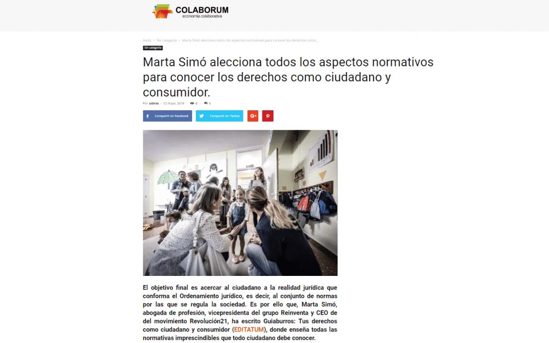 El GuíaBurros: Tus derechos como ciudadano y consumidor, de Marta Simó, en Colaborum